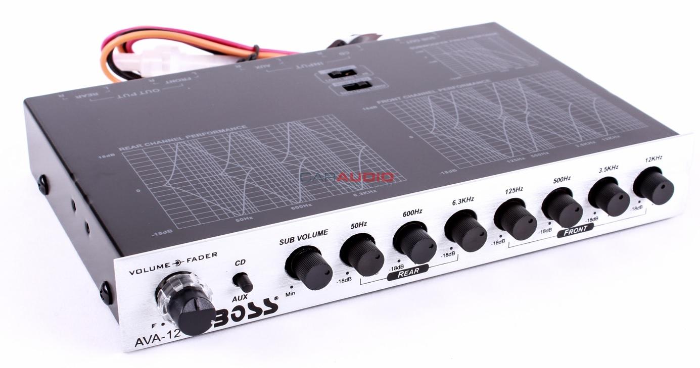 Car Audio Equalizer: NEW BOSS AUDIO AVA1210 CAR EQUALIZER 7 BAND W/ SUBWOOFER