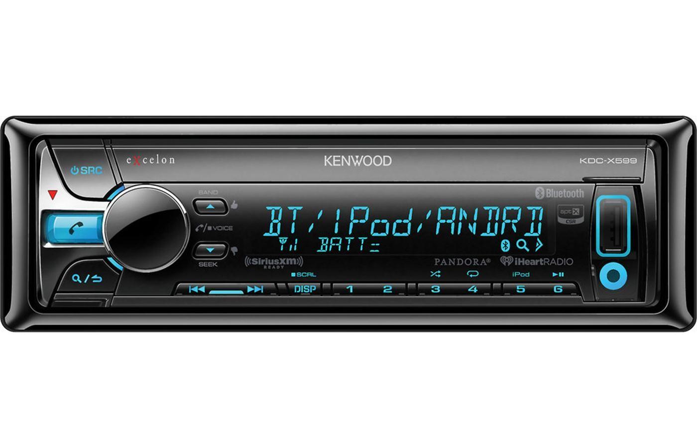 Kenwood eXcelon KDC-X5AptX Bluetooth Car Stereo w