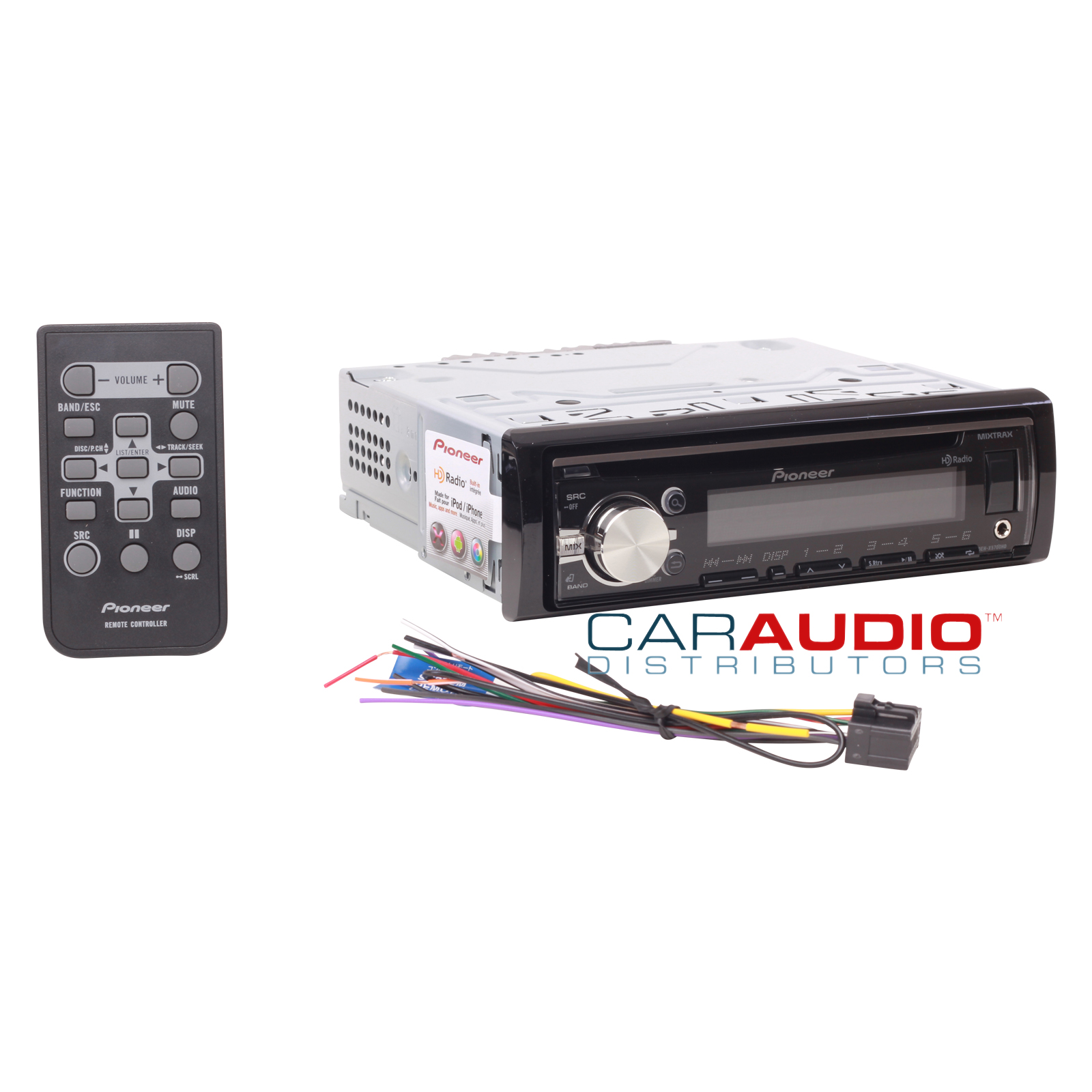 new pioneer deh x5700hd single din in dash car stereo am fm cd mp3 ipod pandora ebay