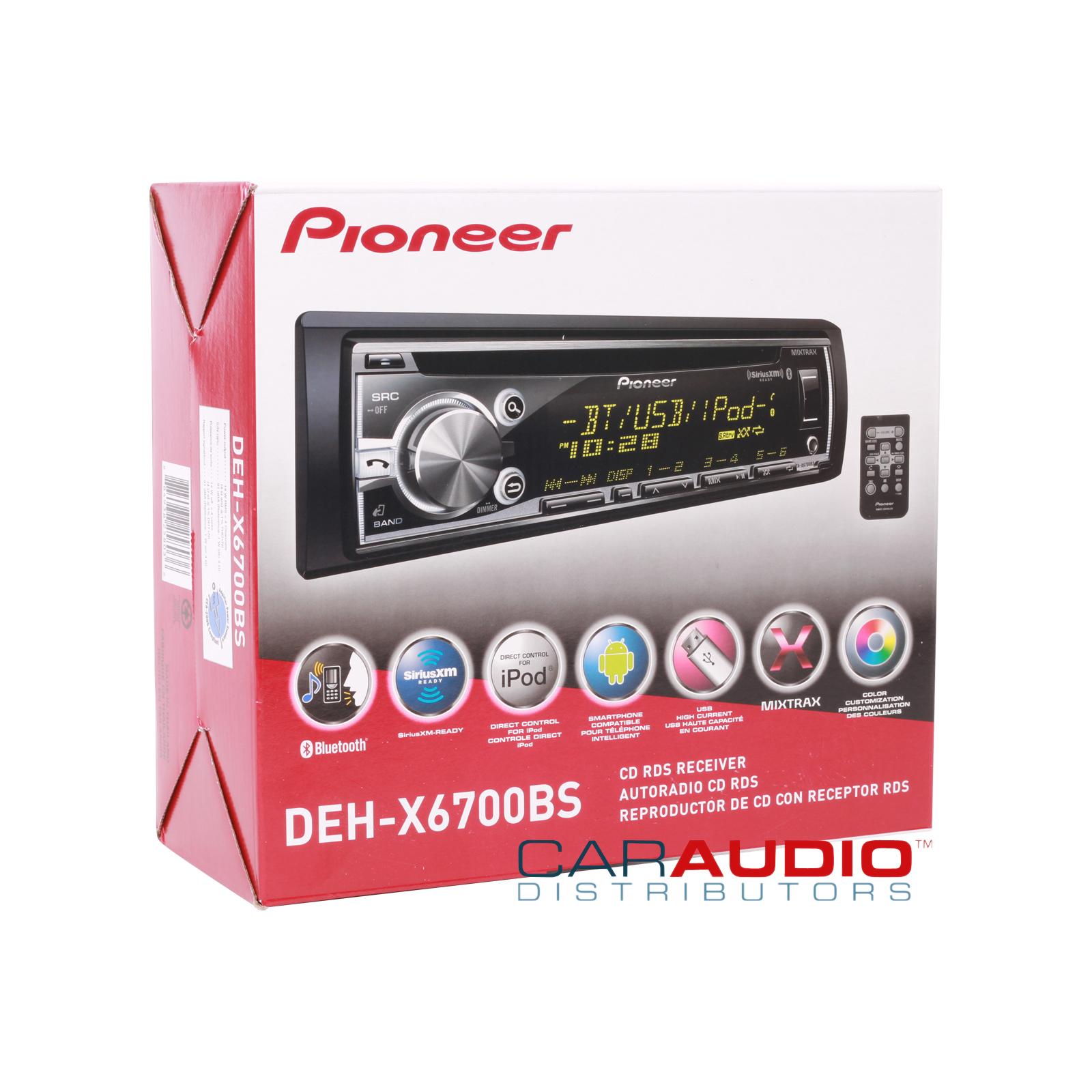 New Pioneer Deh Mp3  Bluetooth  Ipod  Pandora  Siri Eyes Free
