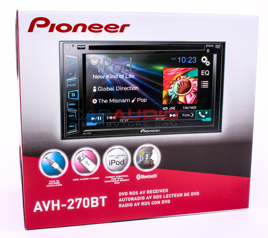 new pioneer avh 270bt double din 6 2 car stereo cd dvd mp3 bluetooth receiver ebay. Black Bedroom Furniture Sets. Home Design Ideas
