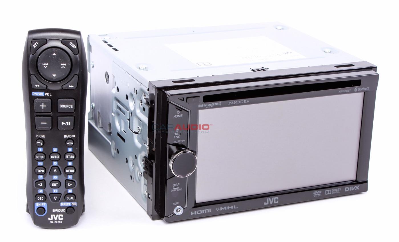 new jvc kw v30bt in dash 6 1 double din car stereo cd mp3. Black Bedroom Furniture Sets. Home Design Ideas