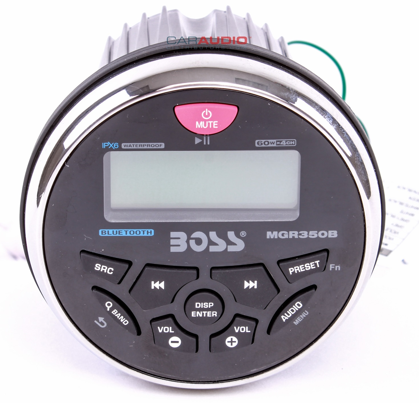 "NEW BOSS AUDIO MGR350B 3.5"" BLUETOOTH GAUGE MARINE MP3/FM/AM/RDS STEREO RECEIVER"