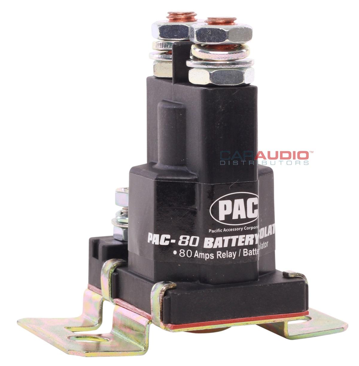 new pac pac-80 80 amp relay / battery isolator | ebay pac 80 isolator wiring diagram #1